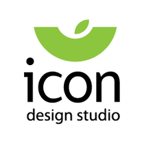 Logo icon white icon design studio med