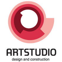Logo new art studio design construction med