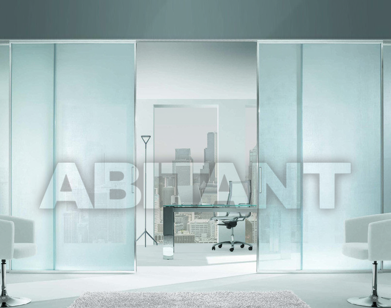 Купить Дверь  стеклянная Res Italia Doorscollection LUNA Sliding door into the wall3