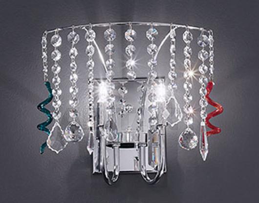 Купить Бра Voltolina Classic Light srl Contemporary  Silk Wall lamp crystal