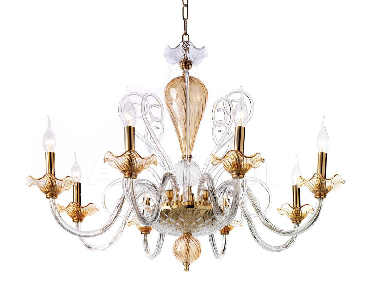 Купить Люстра Ciciriello Lampadari s.r.l. Lighting Collection NINFEA lampadario 8 luci