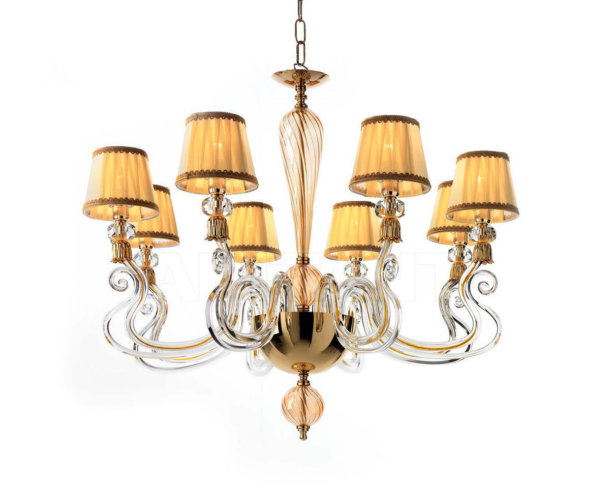 Купить Люстра Ciciriello Lampadari s.r.l. Lighting Collection PETUNIA lampadario 8 luci