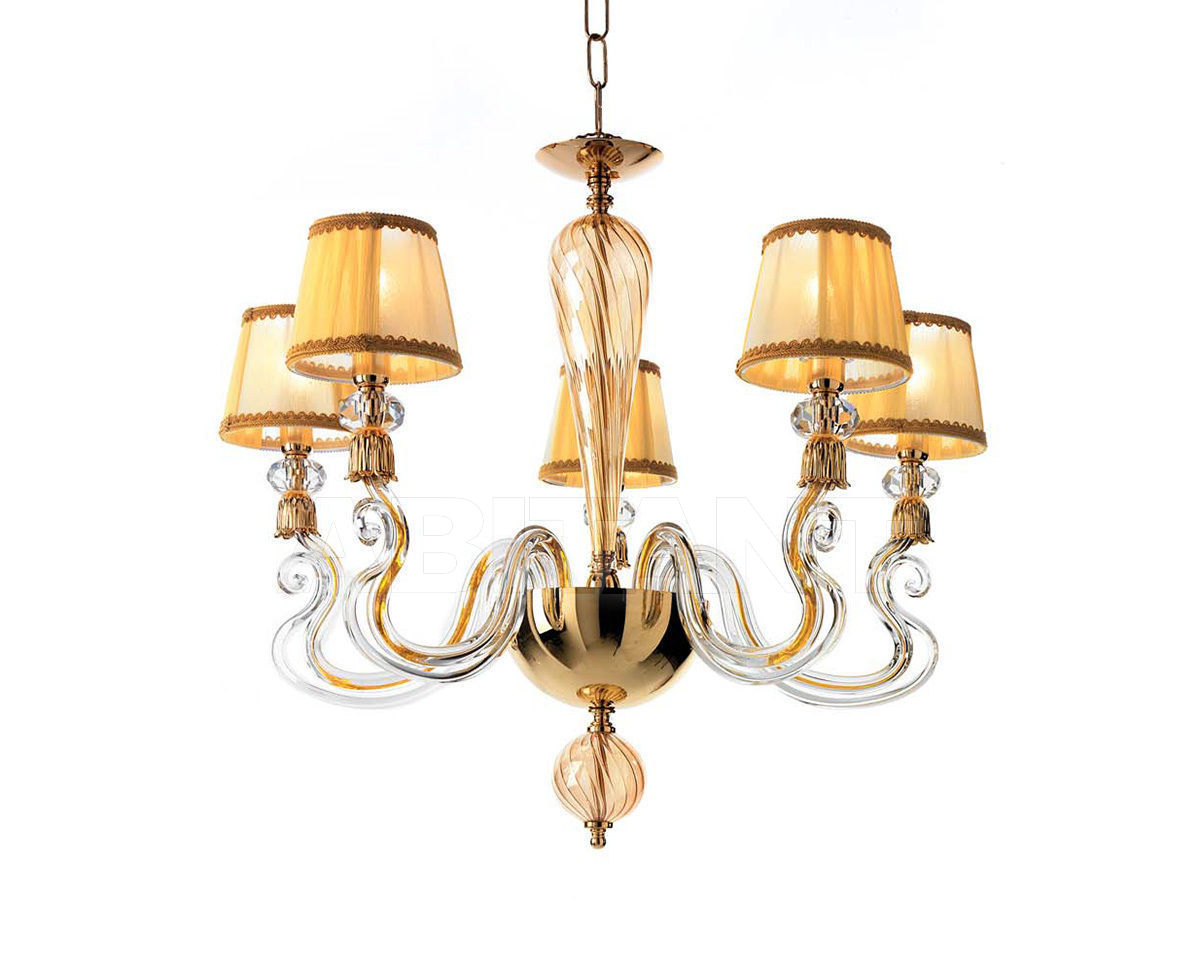 Купить Люстра Ciciriello Lampadari s.r.l. Lighting Collection PETUNIA lampadario 5 luci