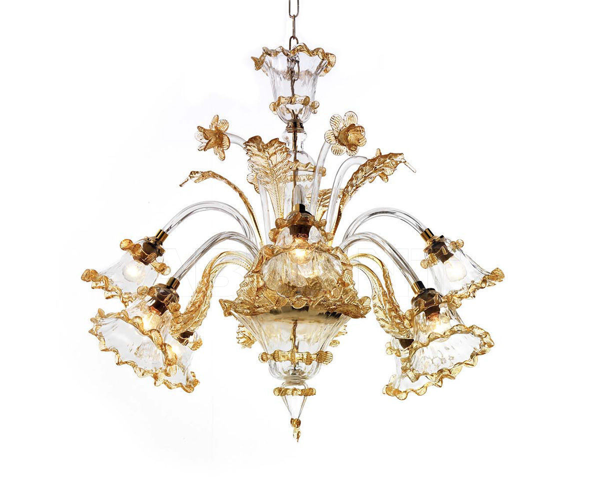 Купить Люстра Ciciriello Lampadari s.r.l. Lighting Collection ARTISTICO AMBRA lampadario 8 luci