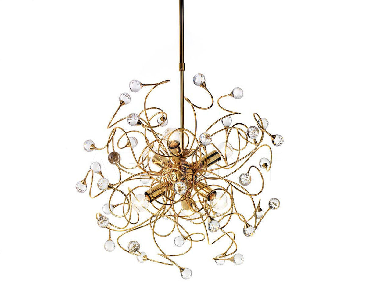 Купить Люстра Ciciriello Lampadari s.r.l. Lighting Collection PALLA oro lampadario 6 luci