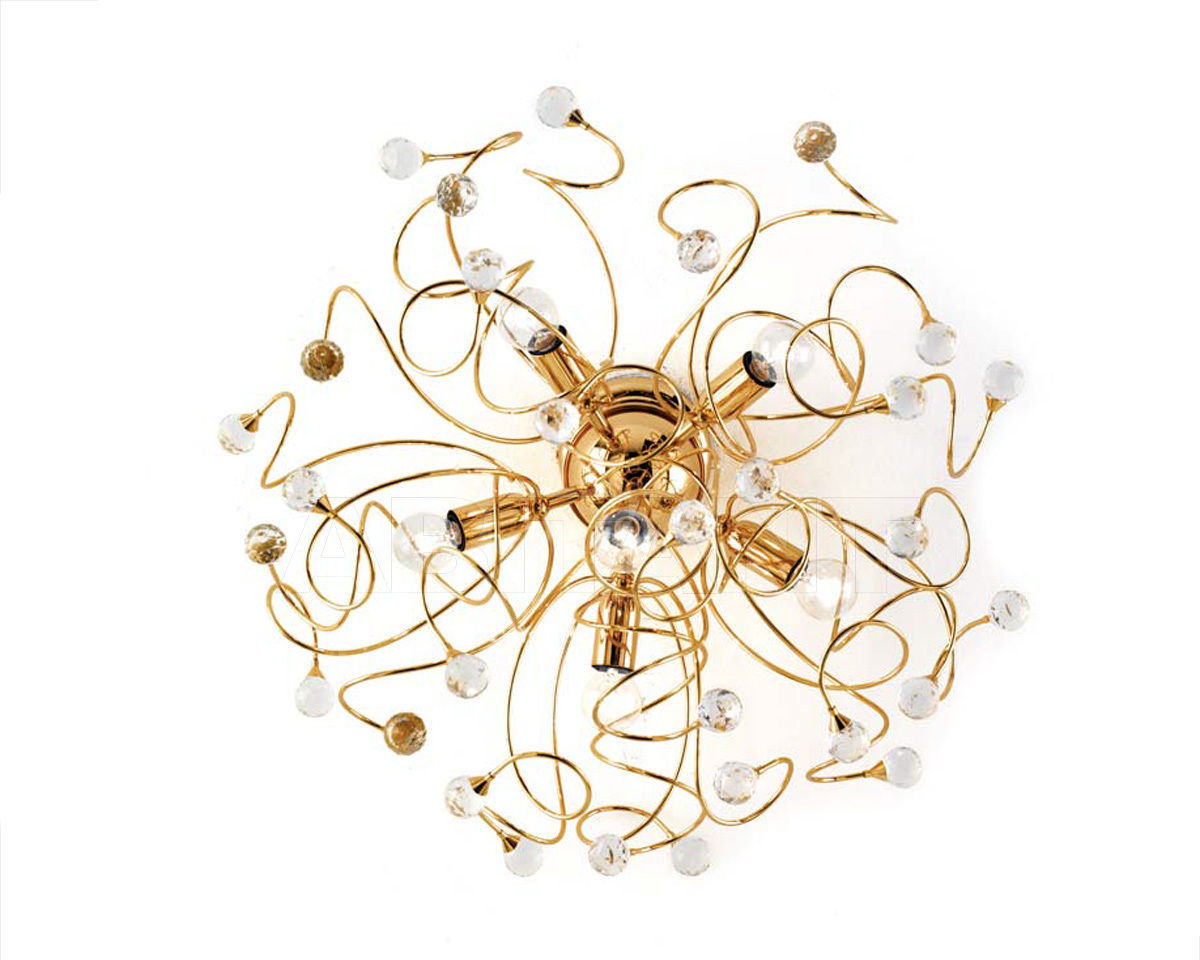 Купить Люстра Ciciriello Lampadari s.r.l. Lighting Collection PALLA oro plafoniera 6 luci