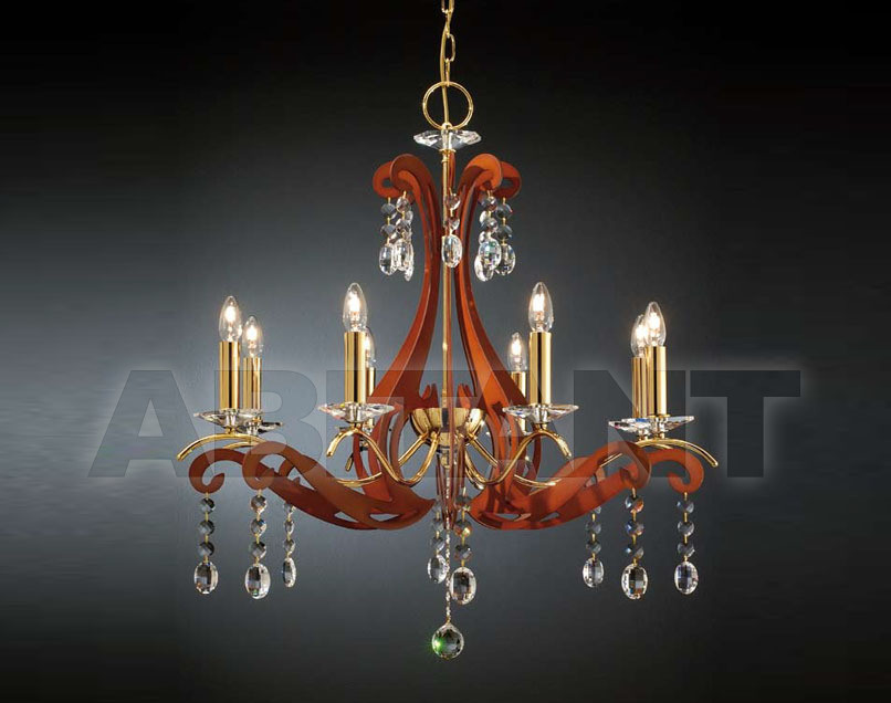 Купить Люстра Arredo Luce Fashion Crystal 1030/8 GLD WOOD
