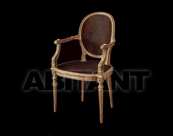 Купить Стул с подлокотниками Anselmo Bonora 2010 1884  Poltrona incannata/Caned armchair