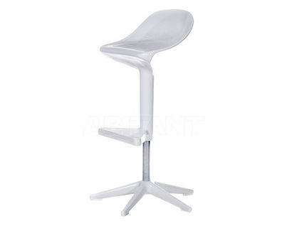 Стул барный Kartell Spoon Stool White KAR12F15