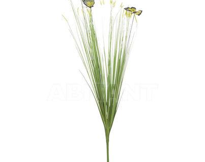 8J-15AB0003 Стебли травы с бабочками 70 см (желт.) (24)
