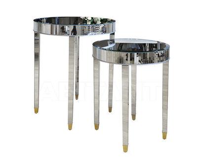 KF-13163 Комплект 2 стола зеркальных (66х66х76/50,8х50,8х58,4)