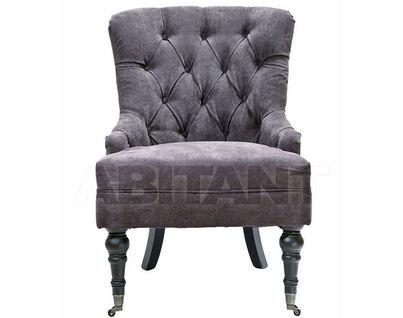 PJC098-PJ843 Кресло велюр коричневый 98х47х63