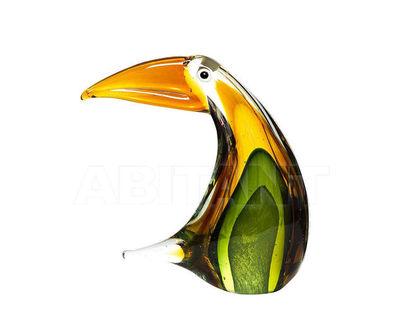 "F5945 Статуэтка ""Пеликан"" (желто-зеленая) 15*7*18"