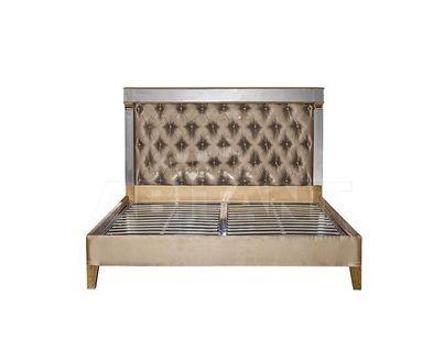 KFC1159E7 Кровать с зеркальными вставками бежевая 1890*2078*1395