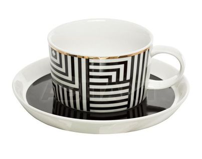 26FC VANITY CUP/S 250BL Чайная пара 250мл, черно-белая (6)