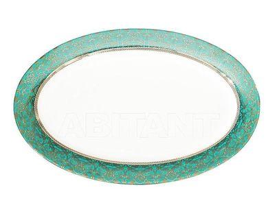 25WIN RIVIERA PL36 Тарелка овальная 36см,цвет бирюзовый (4)