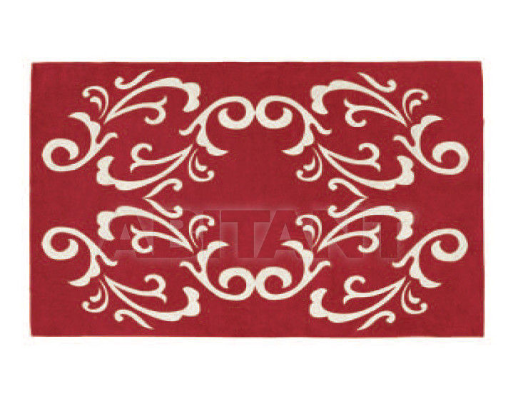 Купить Ковер современный Tisca Italia s.r.l. Aubusson s-baroc rosso