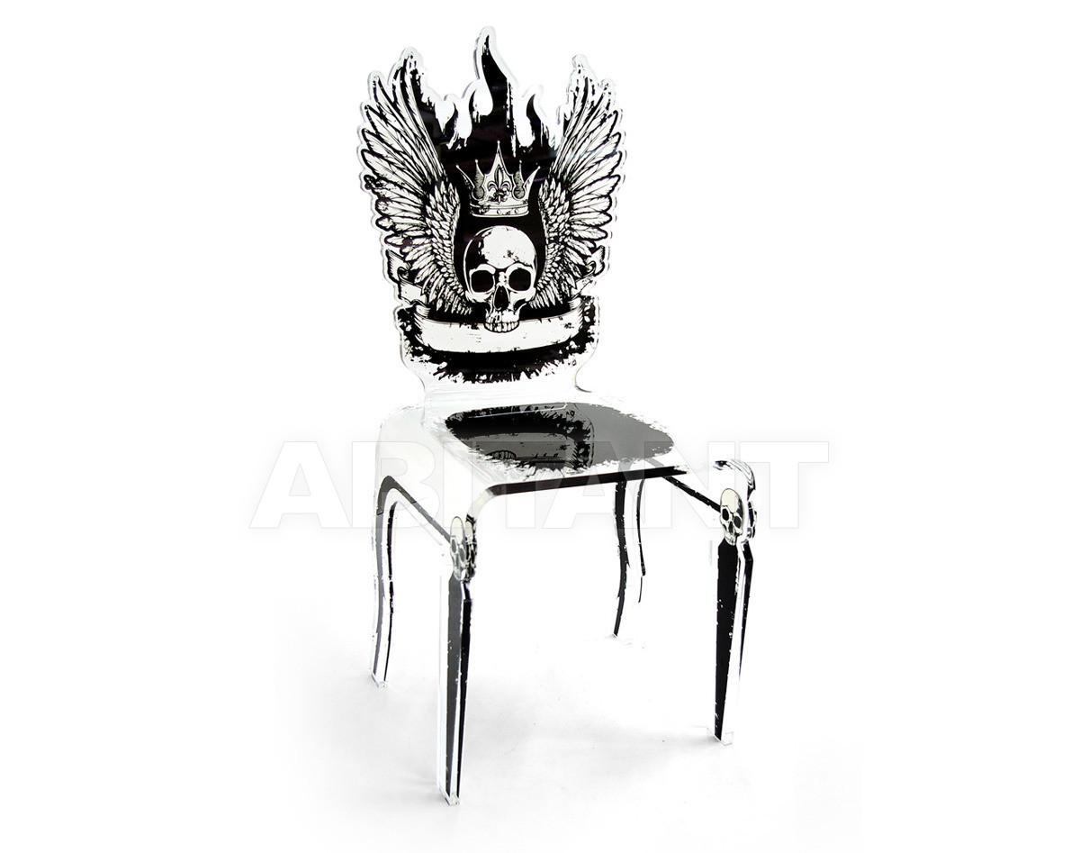 Купить Стул Acrila Let's Rock Line Let's Rock Chair Skull Transparent or white