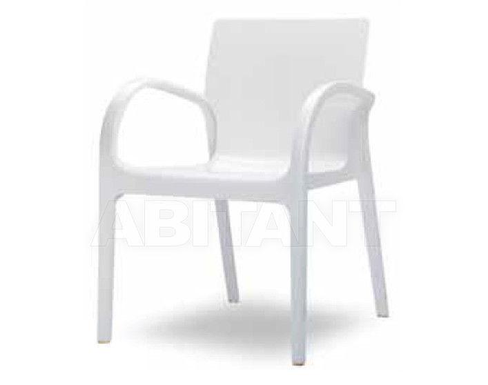 Купить Стул с подлокотниками DEJAVU Contral Indoor 412 BCO = bianco