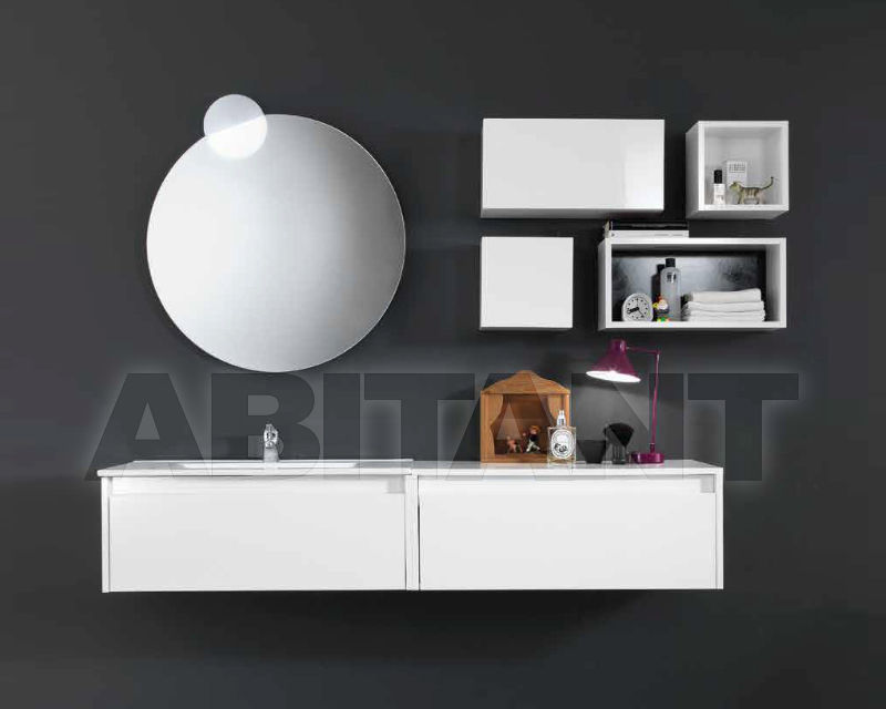 Купить Композиция Ciciriello Lampadari s.r.l. Bathrooms Collection EDGE 80 Bianco lucido