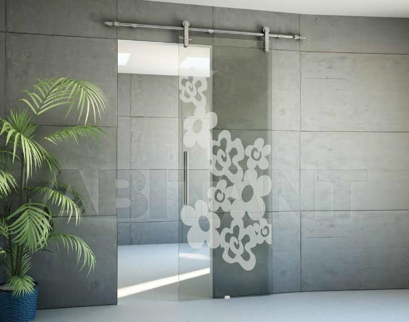 Купить Дверь  стеклянная Bertolotto Natura 3248 sabbiato scomparsa