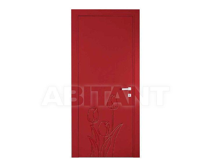 Купить Дверь деревянная Bertolotto Natura tulipan incisa red