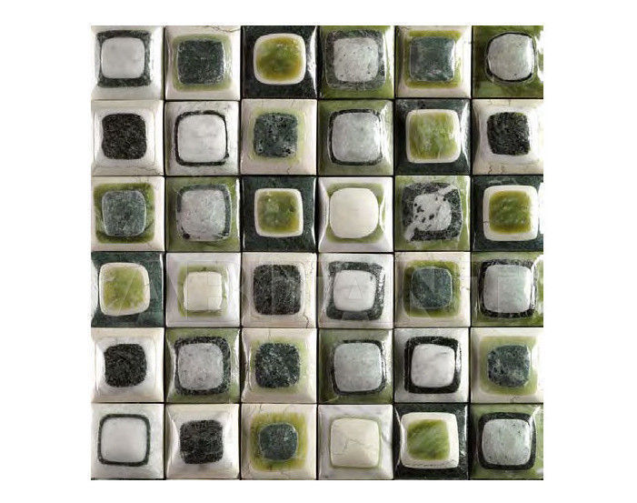 Купить Мозаика BDSR Giovanni Barbieri Stone Chocolate Borders Green
