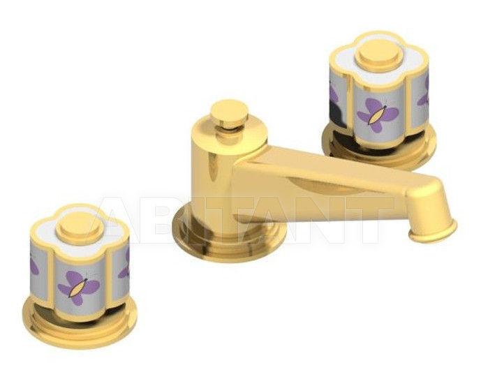 Купить Встраиваемые смесители THG Bathroom A7D.152 Capucine mauve butterfly gold decor