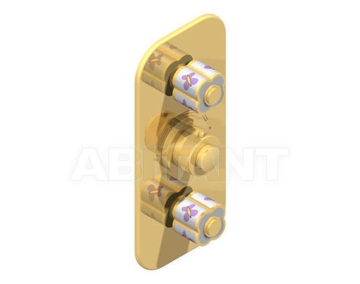 Купить Встраиваемый смеситель THG Bathroom A7D.5400B Capucine mauve butterfly gold decor