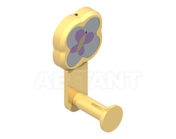 Купить Крючок THG Bathroom A7D.508 Capucine mauve butterfly gold decor