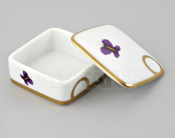 Купить Шкатулка THG Bathroom A7D.4617 Capucine mauve butterfly gold decor