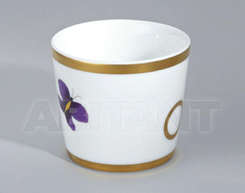 Купить Стакан для зубных щеток THG Bathroom A7D.4618 Capucine mauve butterfly gold decor
