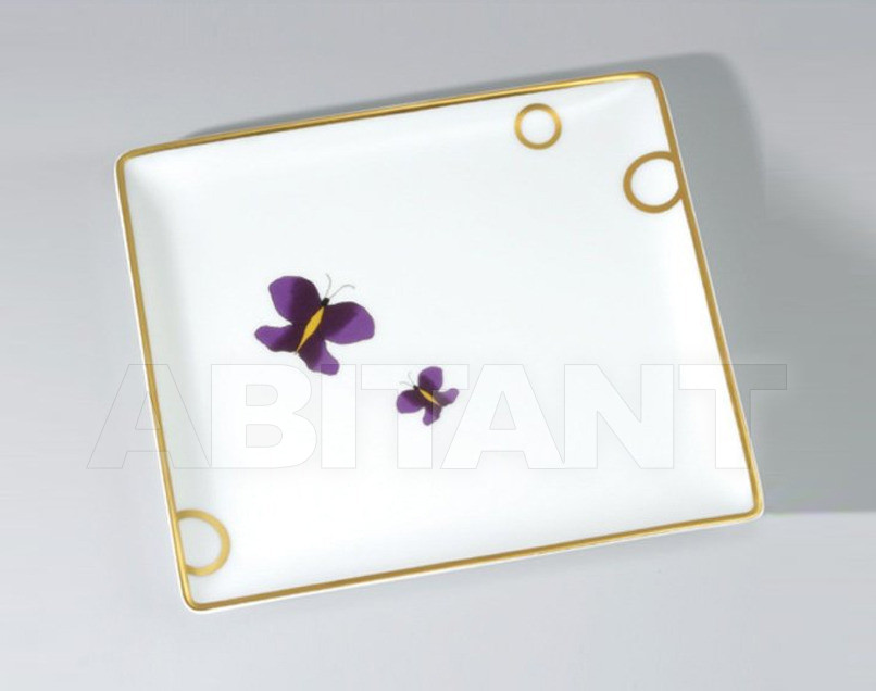 Купить Поднос THG Bathroom A7D.4614 Capucine mauve butterfly gold decor
