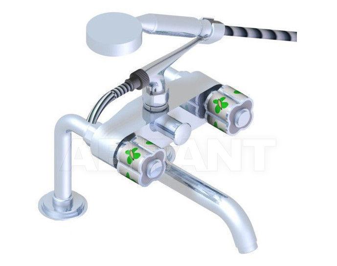 Купить Смеситель для ванны THG Bathroom A7E.13G Capucine vert décor Platine