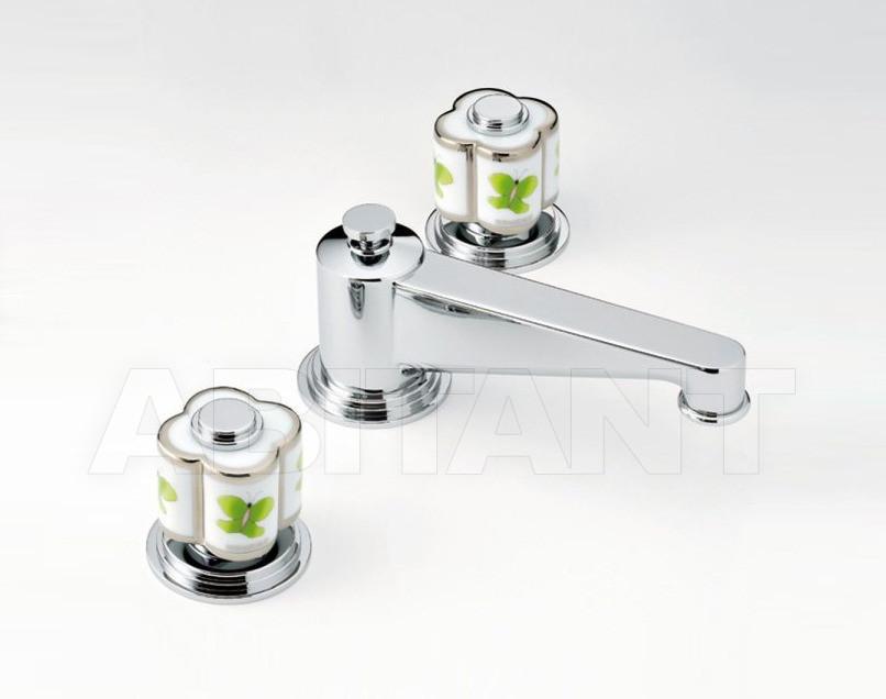 Купить Смеситель для раковины THG Bathroom A7E.151M Capucine vert décor Platine