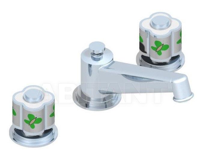 Купить Смеситель для раковины THG Bathroom A7E.152M Capucine vert décor Platine