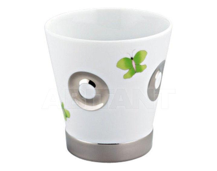 Купить Стакан для зубных щеток THG Bathroom A7E.4610 Capucine vert décor Platine