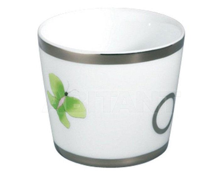 Купить Стакан для зубных щеток THG Bathroom A7E.4618 Capucine vert décor Platine