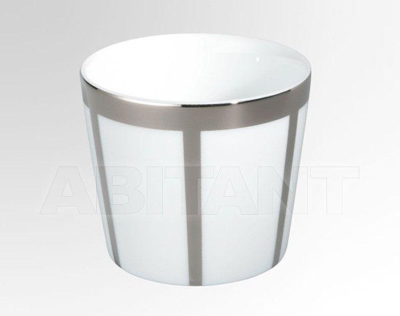 Купить Стакан для зубных щеток THG Bathroom A7C.4618 Passion platinum decor