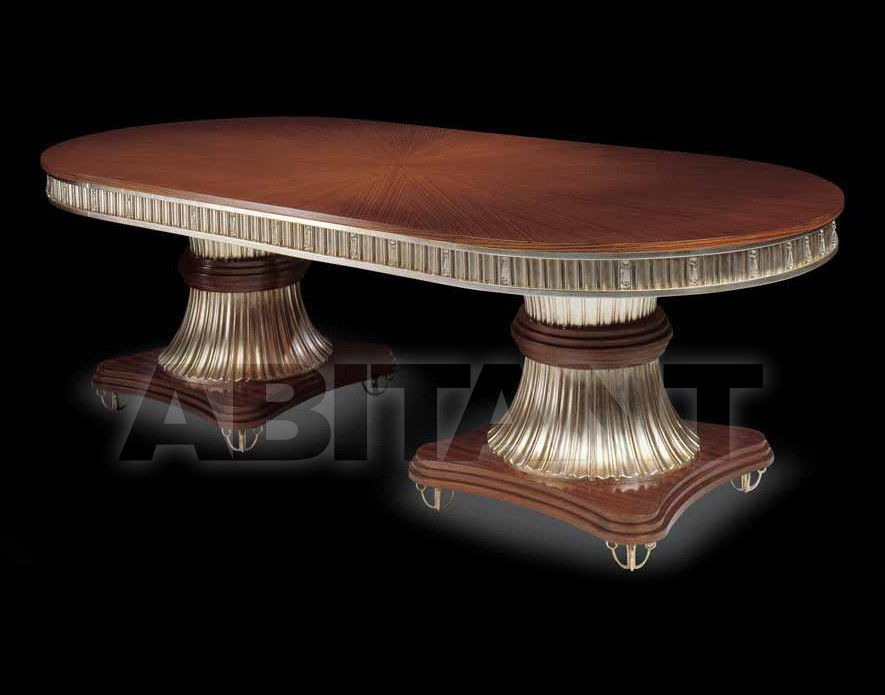 Купить Стол обеденный CRYSTAL Isacco Agostoni Contemporary 1259 OVAL TABLE with 2 bases