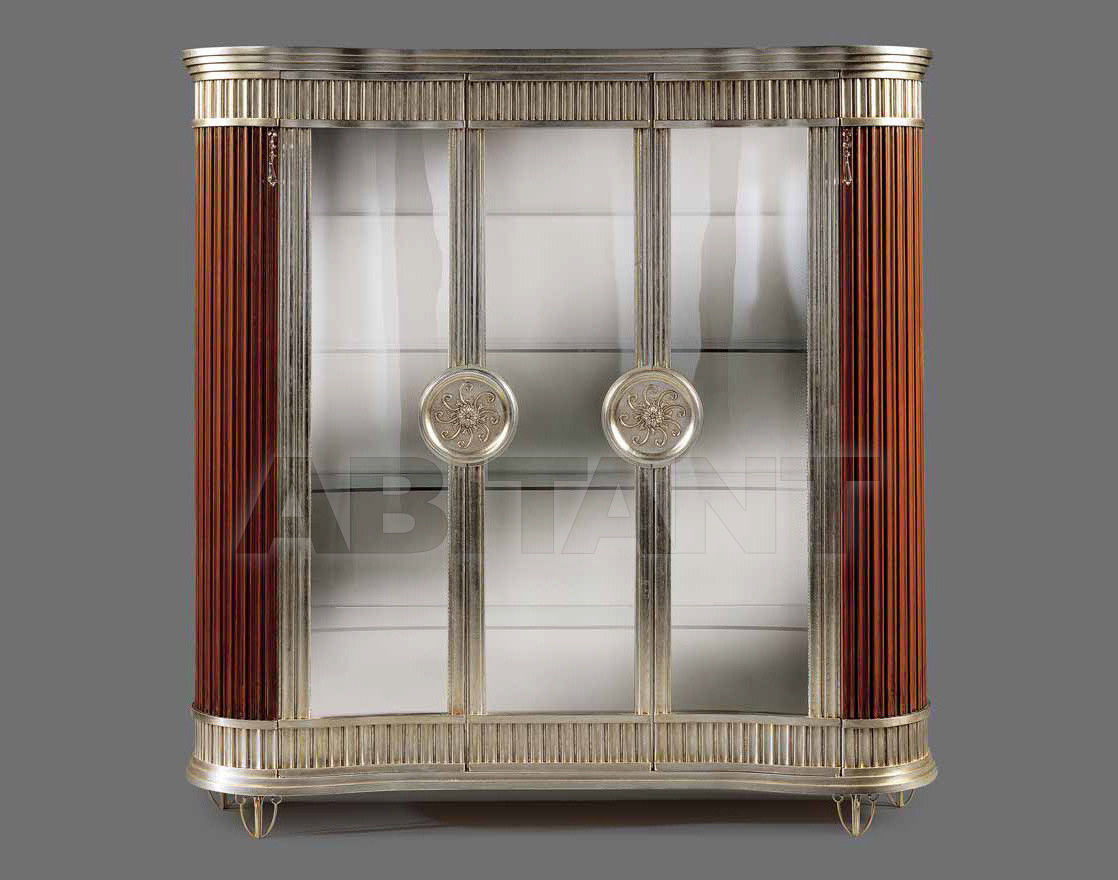 Купить Витрина CRYSTAL Isacco Agostoni Contemporary 1259 3-DOOR GLASS CABINET