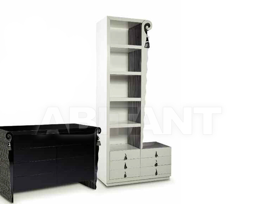 Купить Шкаф книжный ONDADOPONDA Isacco Agostoni Contemporary 1295 BOOKCASE WITH 6 DRAWERS