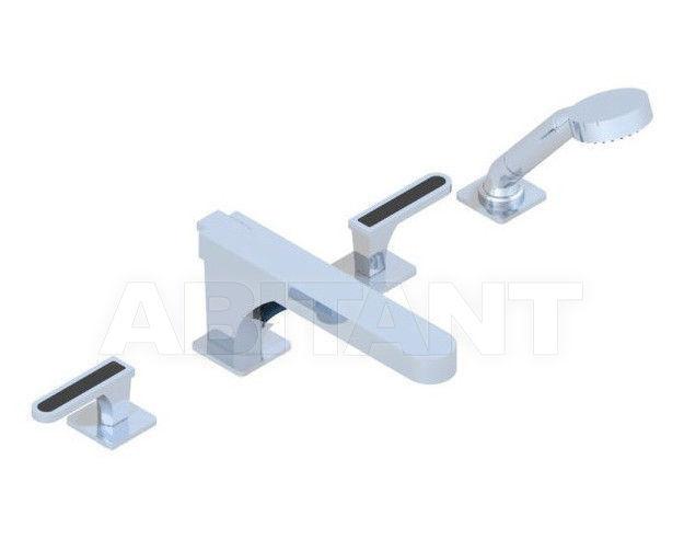 Купить Смеситель для ванны THG Bathroom A6P.112BSG Profil black Onyx with lever