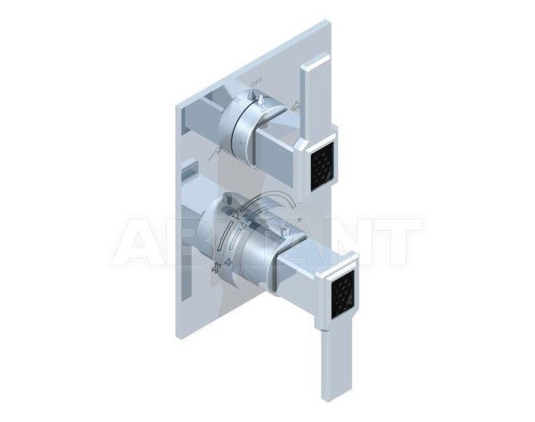 Купить Смеситель термостатический THG Bathroom A2M.5500B Metropolis black crystal with lever