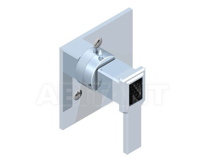 Купить Переключатель THG Bathroom A2M.49/3VM Metropolis black crystal with lever