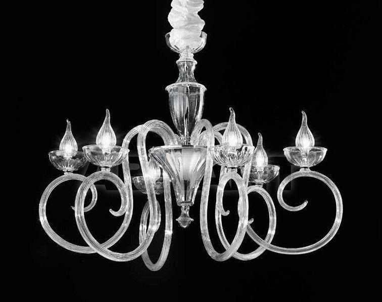 Купить Люстра IDL Export Dolce Vita Luxury Lighting 449/6 Transparent Murano Glass