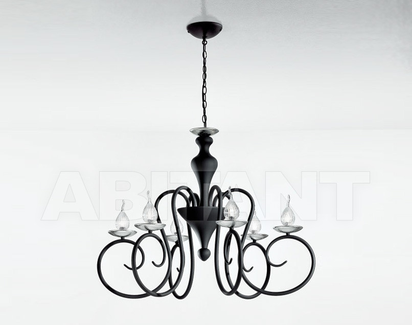 Купить Люстра IDL Export Luce Da Vivere Living Lighting 461/6 Nero