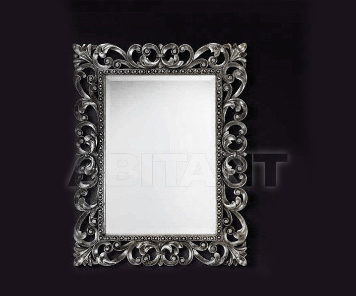 Купить Зеркало настенное Vaccari International Gli Specchi Di Alice 1 2 4 1 argento
