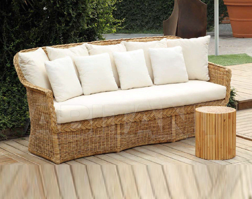 Купить Диван для террасы Frigerio Carlo Rattan Living ELOISE 3 seater sofa