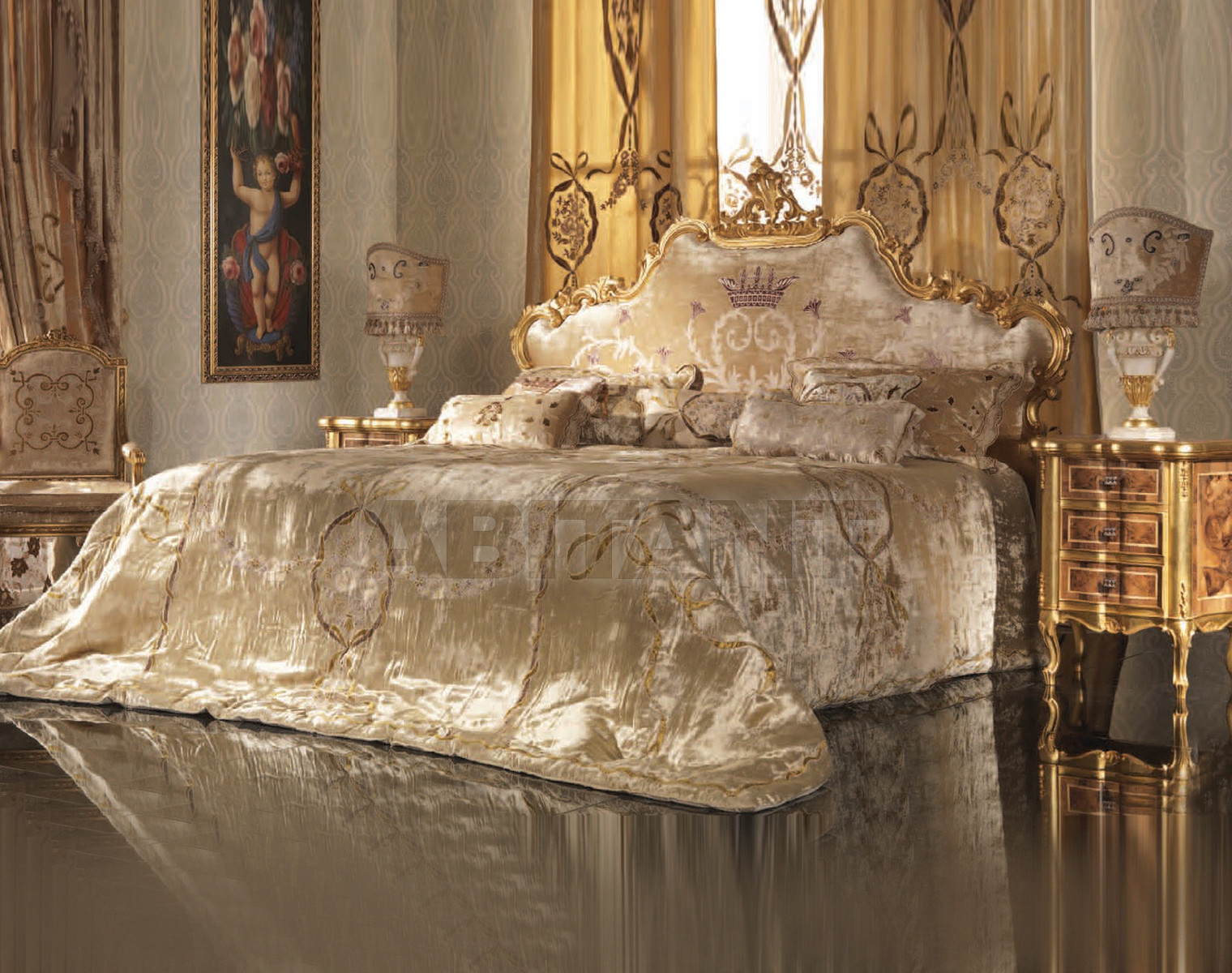 Купить Кровать Mozart LaContessina Mobili R10009